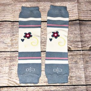 Blue with Flowers Baby Leg warmers